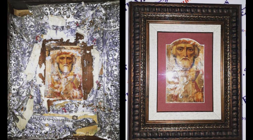 Оформление старинной иконы